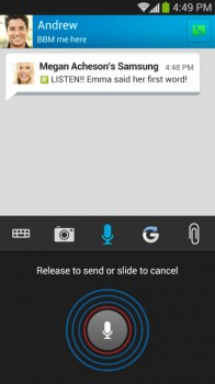 BBM Pics, Voice Notes & attachments screenshot