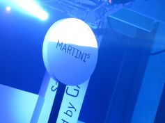 The Martini Bar was the focus of the Tap and Pay mobile payments demonstration. It also served plenty of alcohol.