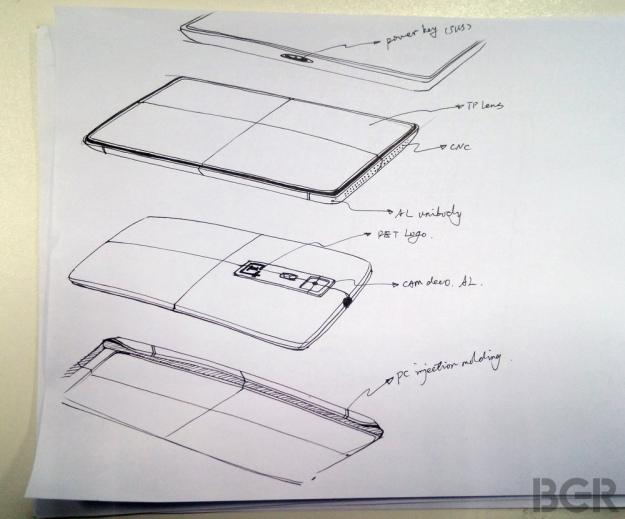 OnePlus One sketch
