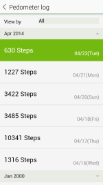 Pedometer Log