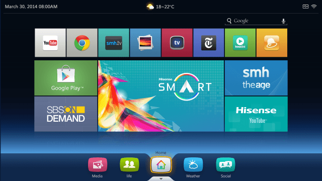 Hisense Homescreen UI - Vision TV powered by Android