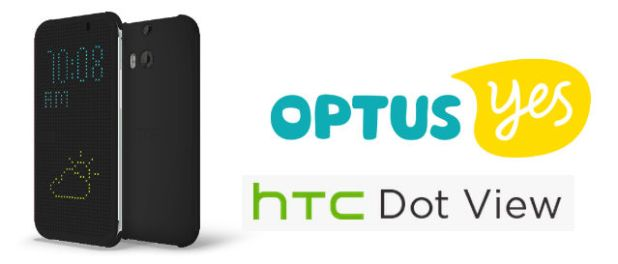 Optus HTC Dot View M8