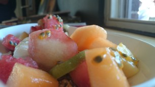 Close-up fruit salad