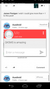 QKSMS Fast Reply