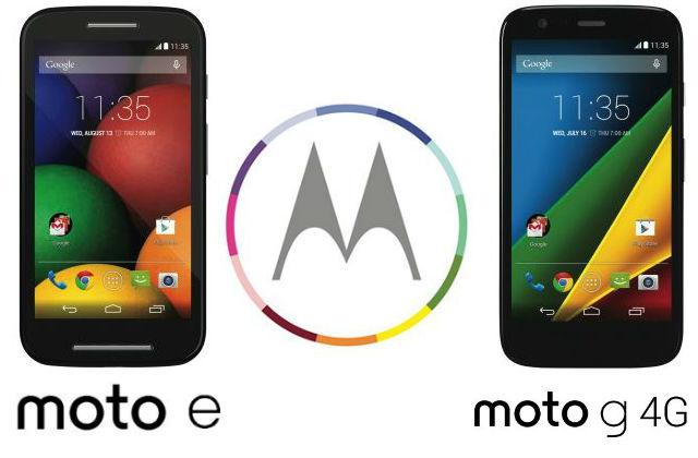 Moto E Moto G 4G