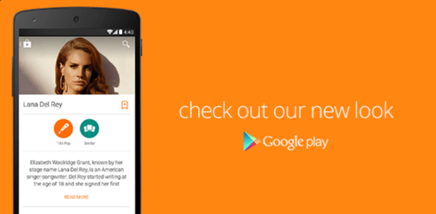 Material Design Google Play - Music Artist