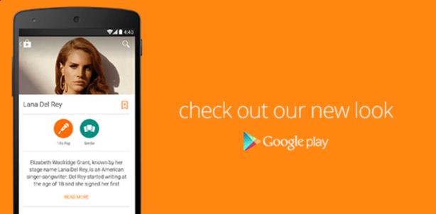 Material Design Google Play - Music Artist