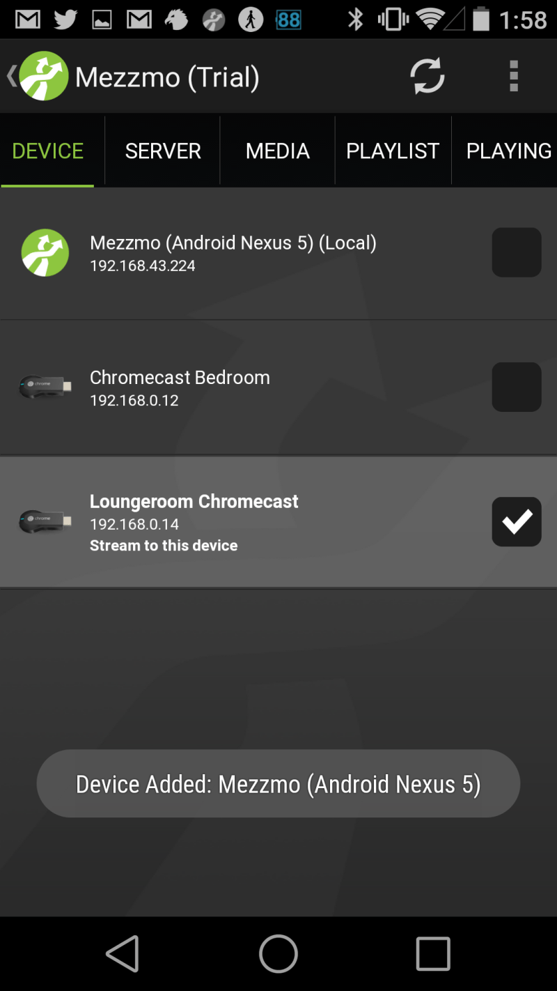 Mezzmo DLNA/UPnP server adds Chromecast support to their Android app