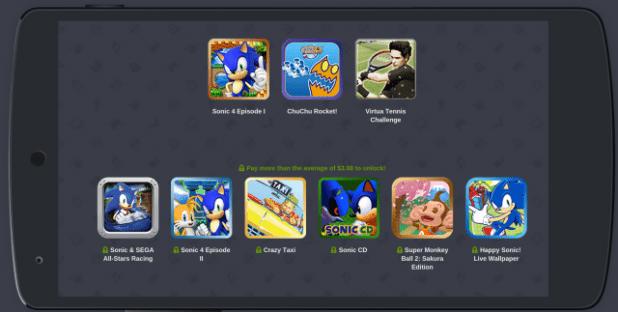 Humble Sega Mobile Bundle - completet