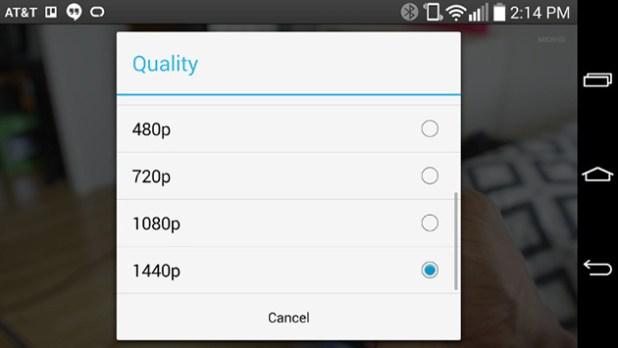 LG G3 YouTube 1440p Screenshot