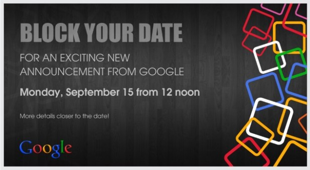 Android One - Google Event Invite