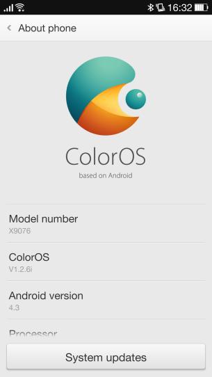 Color OS Settings
