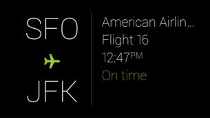 Glass Google Now Flight Card