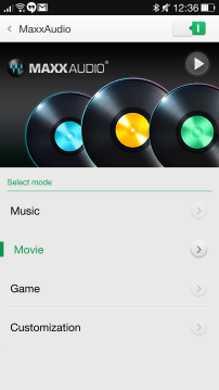 MAXX Audio Settings