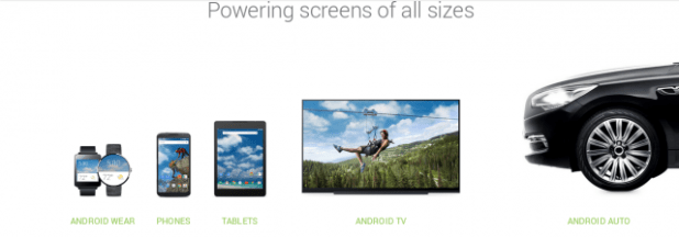 Android - auto - wear - tv - phones - tablets