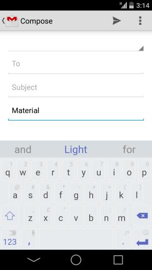 Swiftkey Material Light
