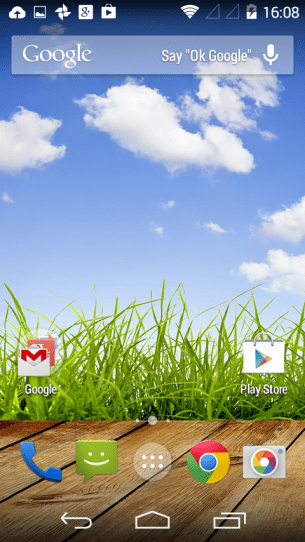 Android One - Home Screen