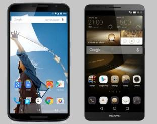 Nexus 6 vs Ascend Mate 7