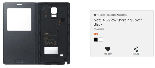Note 4 S View Charging Cover