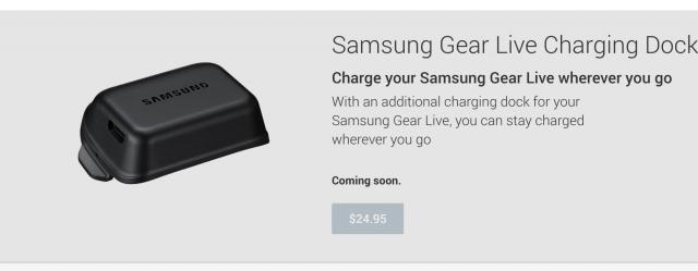 Samsung Gear Live Charging Dock on Google Play