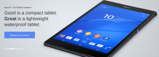Xperia Z3 Tablet Compact - Banner