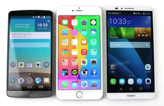 LG G3 vs iPhone 6+ vs Mate 7