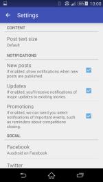 Choose your settings