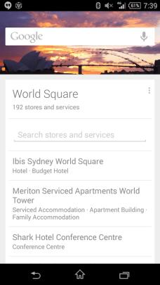 Google Now - Sydney Afternoon/Evening