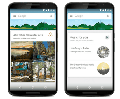 Google Now - Third Party Cards