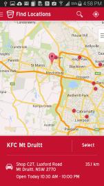 KFC Xpress Map