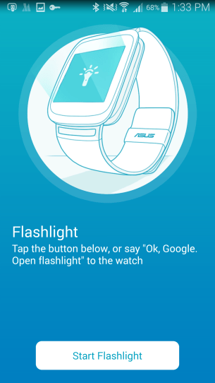 Flashlight function