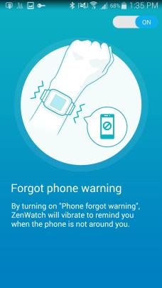 Forgot Phone Warning