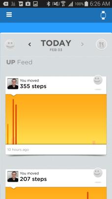Jawbone's UP app