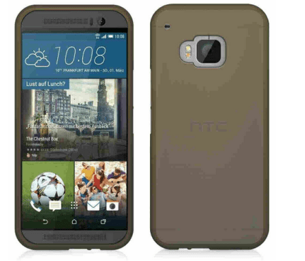 Flexi Gel Smoke Case for HTC One M9 - Black (Two-Tone)