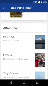 Google Now - Your Trip to 3