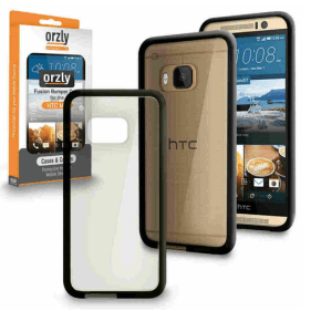 Orzly Fusion Bumper Case - HTC One M9 - Black and Clear