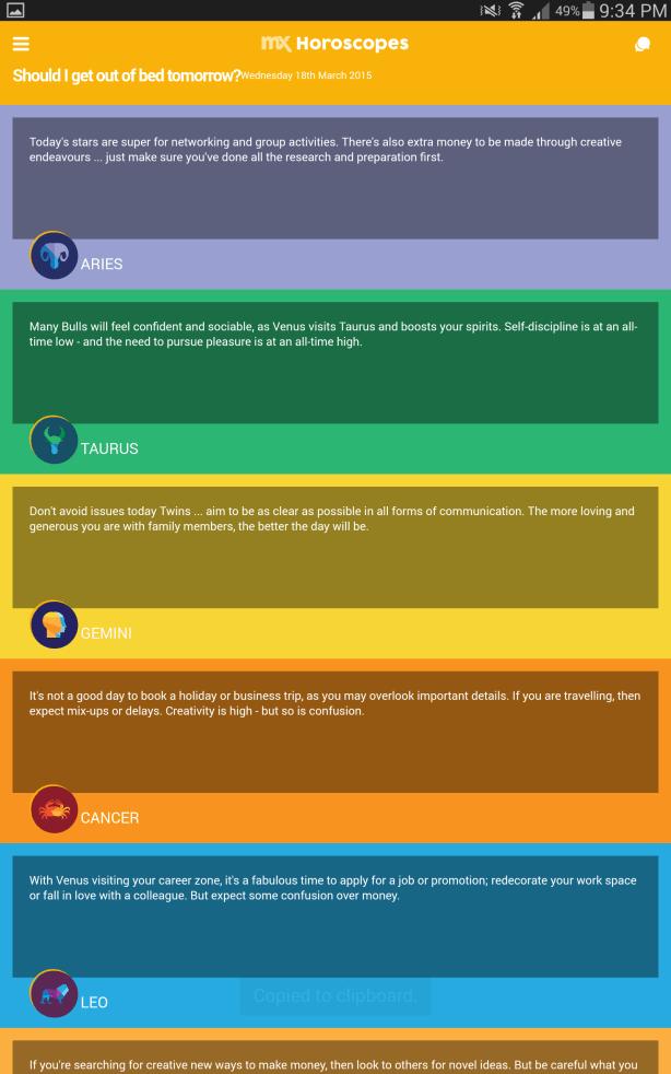 Horoscope Section