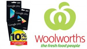 Woolies Google Play Gift Vouchers