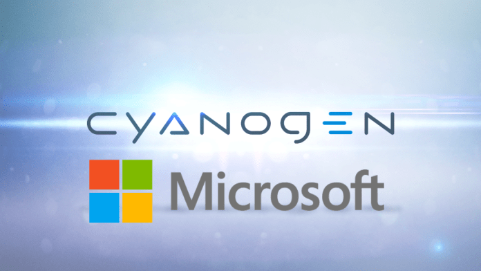 Cyanogen Inc and Microsoft