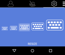 Resize your keyboard to the perfect size for you