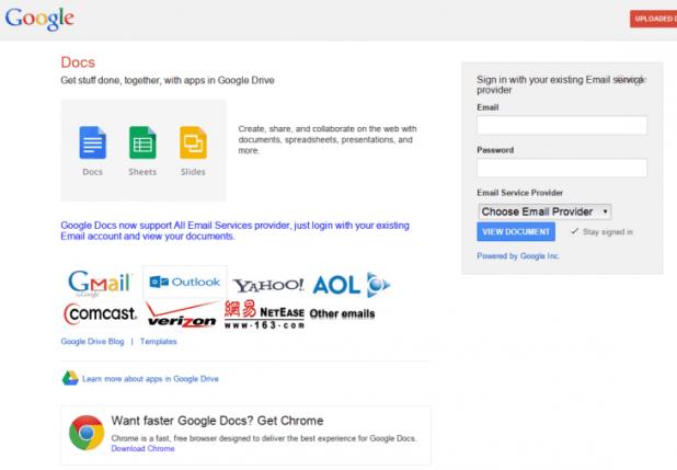 Phishing Site example