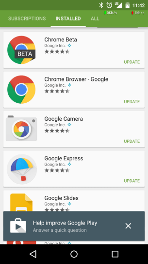 Help Improve Google Play
