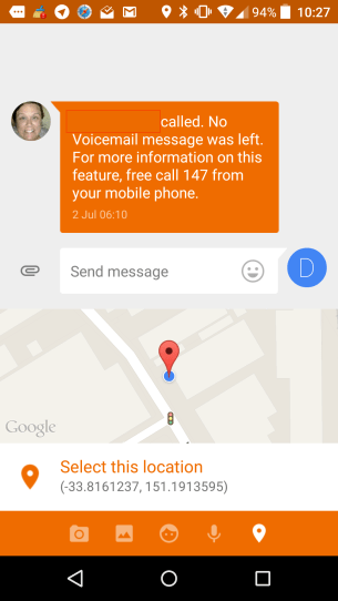 Messenger Location Sharing 2