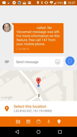 Messenger Location Sharing 2