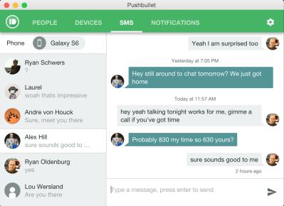 Inline messaging