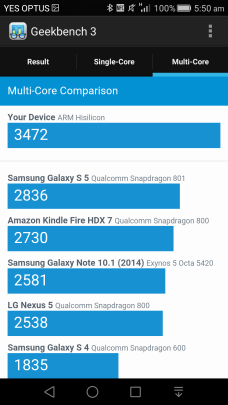 Geekbench 3 - Multi