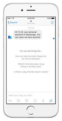 M - Facebook Assistant - Screenshot 1