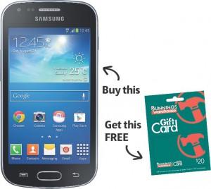 Telstra Samsung galaxy trend Plus + Gift Card