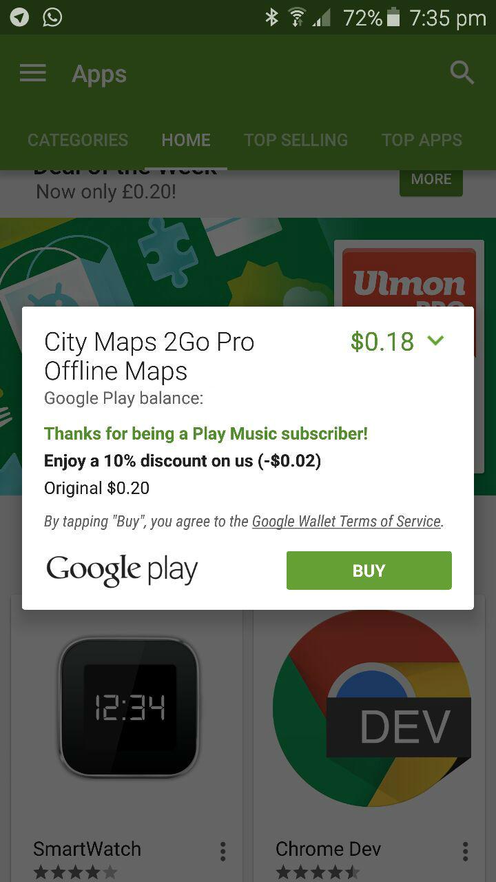 Google Play Discount - App