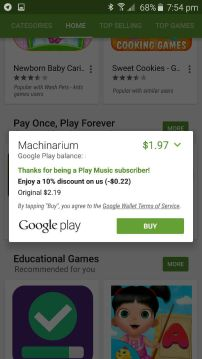 Google Play Discount - Game